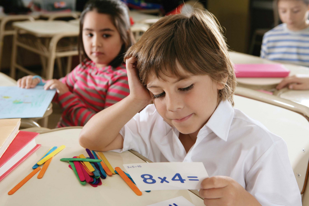 Student learning mathematics
