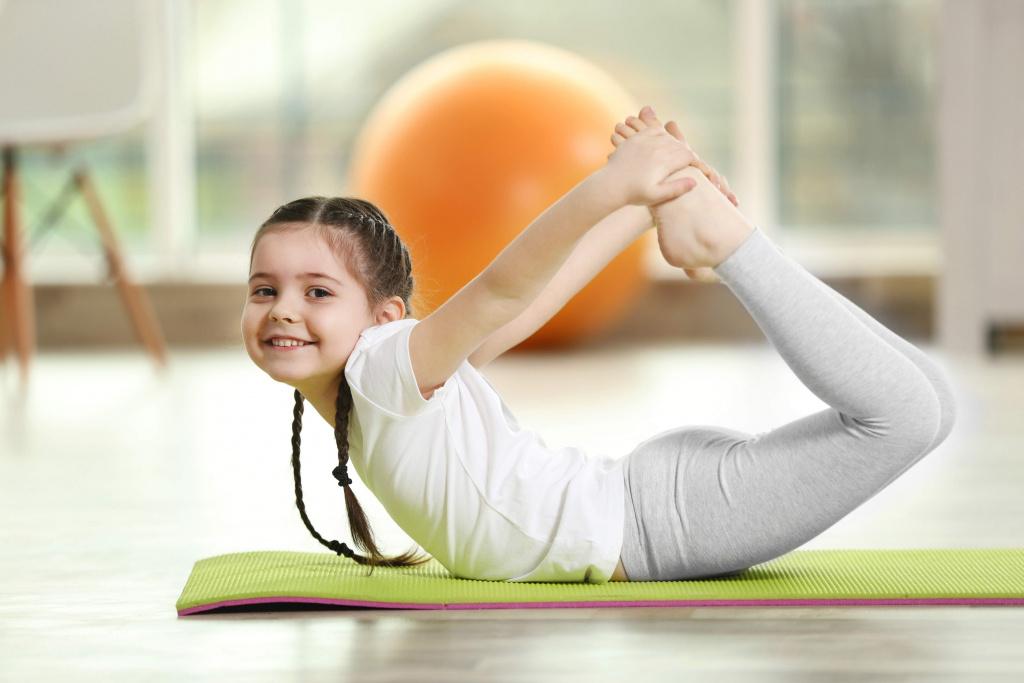 Child doing acrobatics