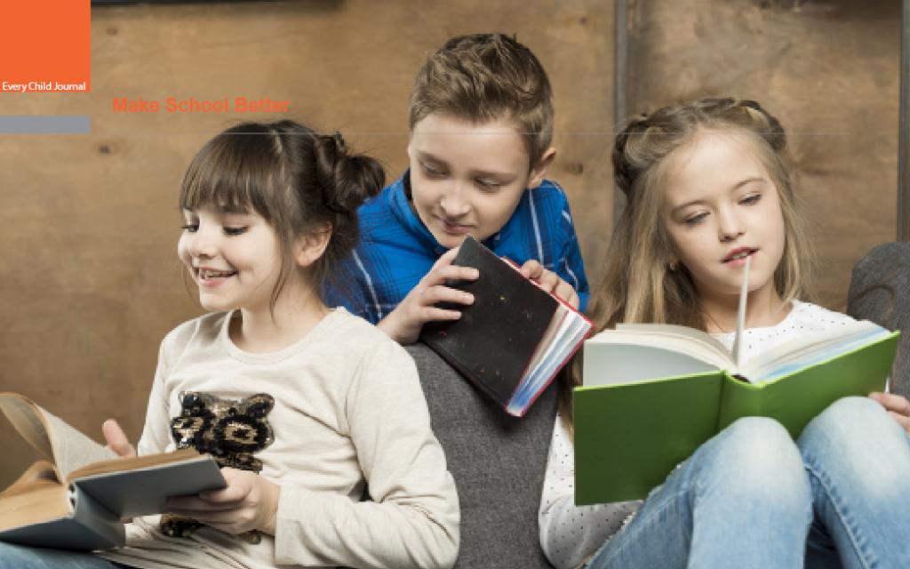 Group of 3 children reading
