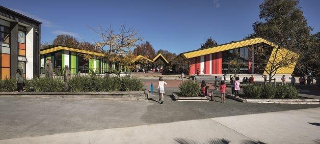 front view of freemans bay school, new zealand