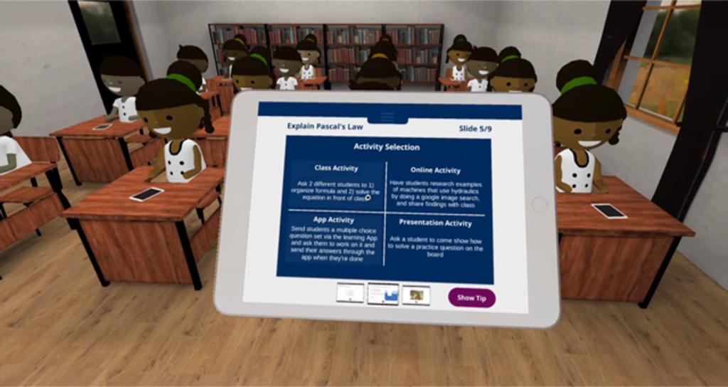 VR image of children learning