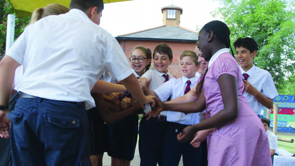 Children from St Anthony's Catholic Primary School, Bromley