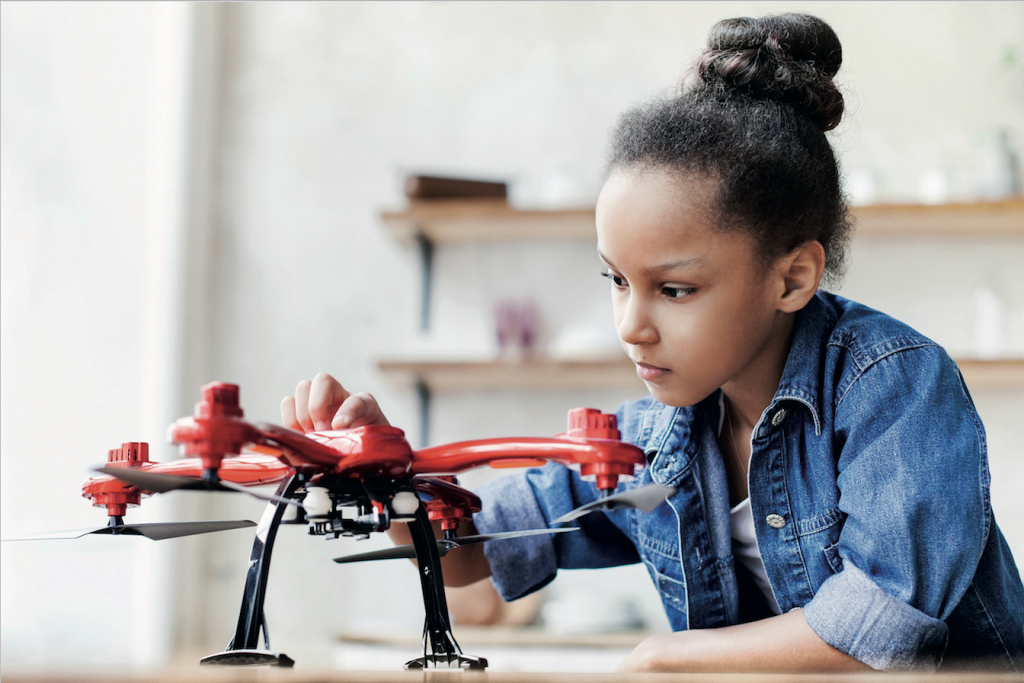 Girl with drone