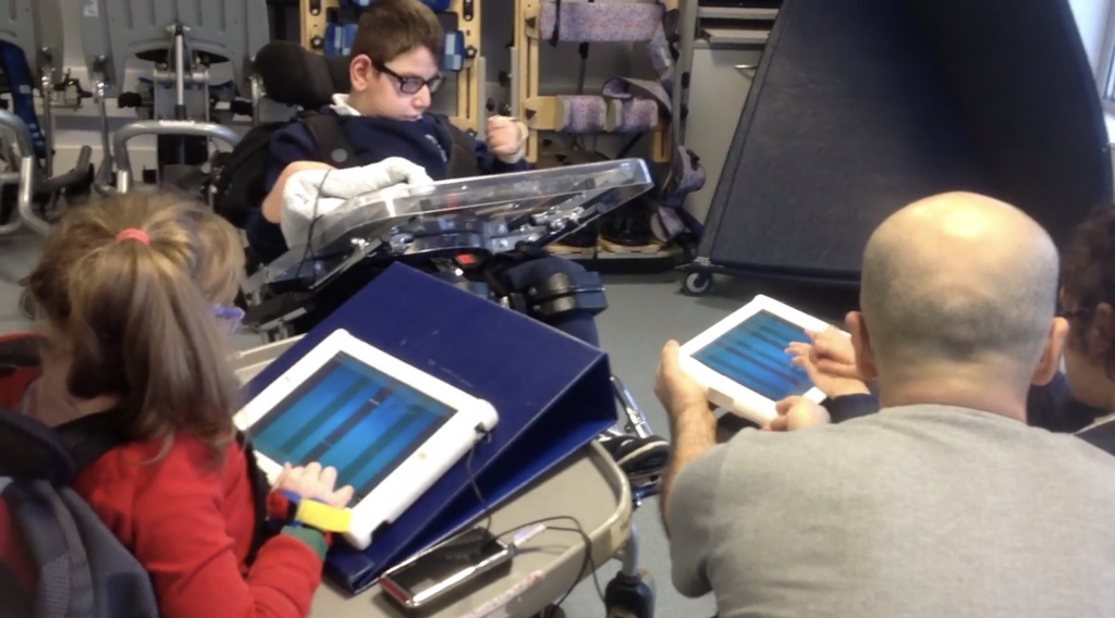 Special needs pupils with tablets