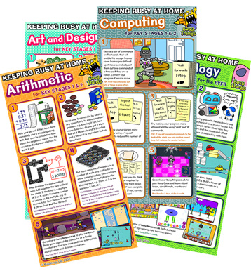 Pictures of Busy Things actiovites on Arithmetic, Art and deisgn and Computing